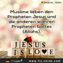 Muslims love Prophet Jesus and the other true Prophets of God (Allah).