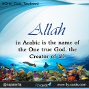 Allah in Arabic is the name of the one true God , the creator of all .