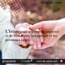 Islam instructs us to respect and care for our parents and the elderly.