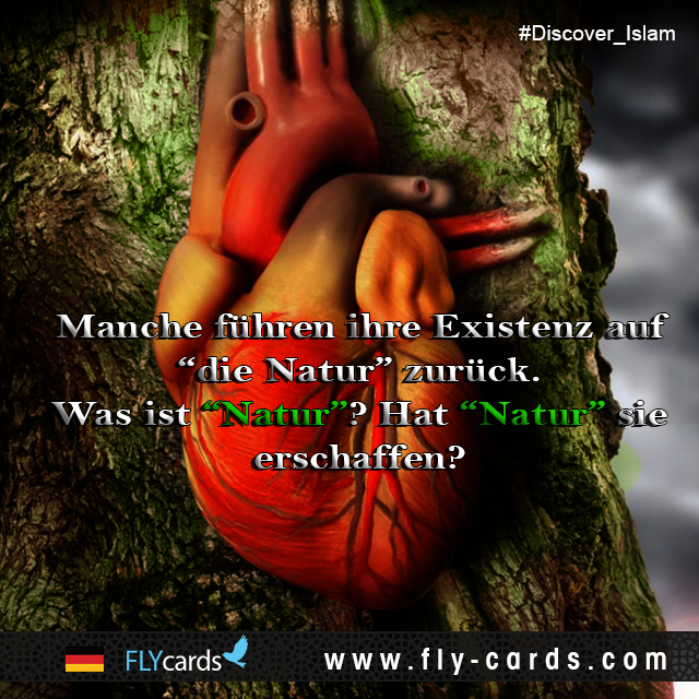 """Some people might refer their existence (by chance) to """"nature""""!  What is """"nature""""? Did """"nature"""" create them?!"""