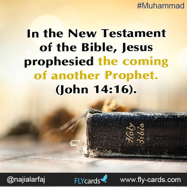 In the New Testament of the Bible, Jesus prophesied the coming of another Prophet.  (John 14:16).