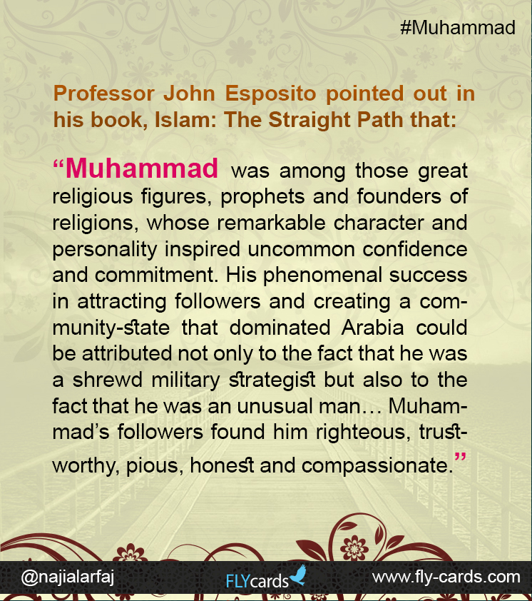 Professor John Esposito pointed out in his book, Islam: The Straight Path