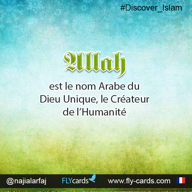 Allah is the Arabic name for the One true God, the Creator of mankind.