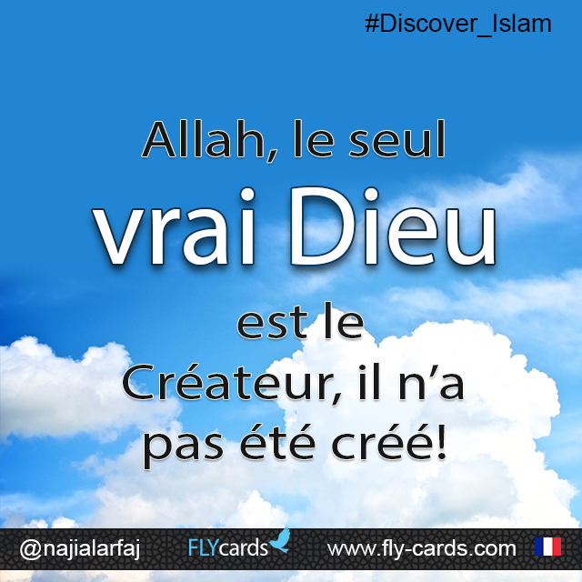 Allah theOne true God is Creator, not created!